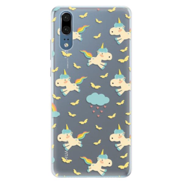 Silikonové pouzdro iSaprio - Unicorn pattern 01 - Huawei P20