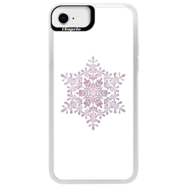 Neonové pouzdro Pink iSaprio - Snow Flake - iPhone SE 2020