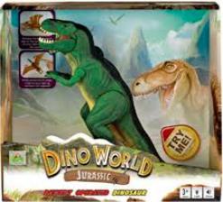 MAC TOYS Tyrannosaurus Rex pravěkký ještěr na baterie v krabici Zvuk