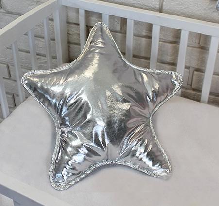baby-nellys-dekoracni-oboustranny-polstarek-hvezdicka-45-cm-stribrny
