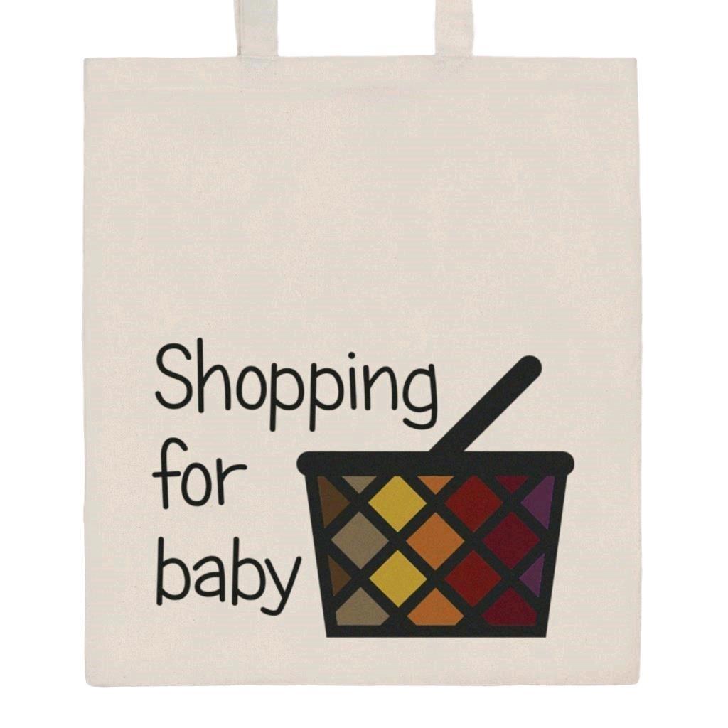 Bavlněná nákupní taška s potiskem New Baby
