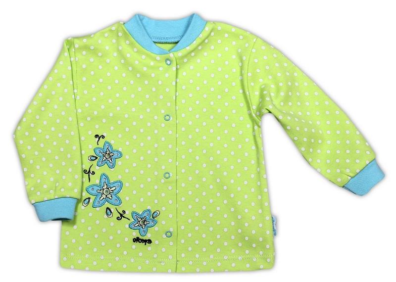 bavlnena-kosilka-nicol-kvetinka-zelena-puntik-80-9-12m