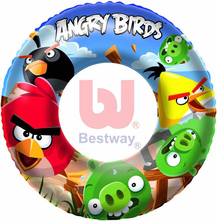 BESTWAY Nafukovací dětský plavací kruh Angry Birds 56cm do vody