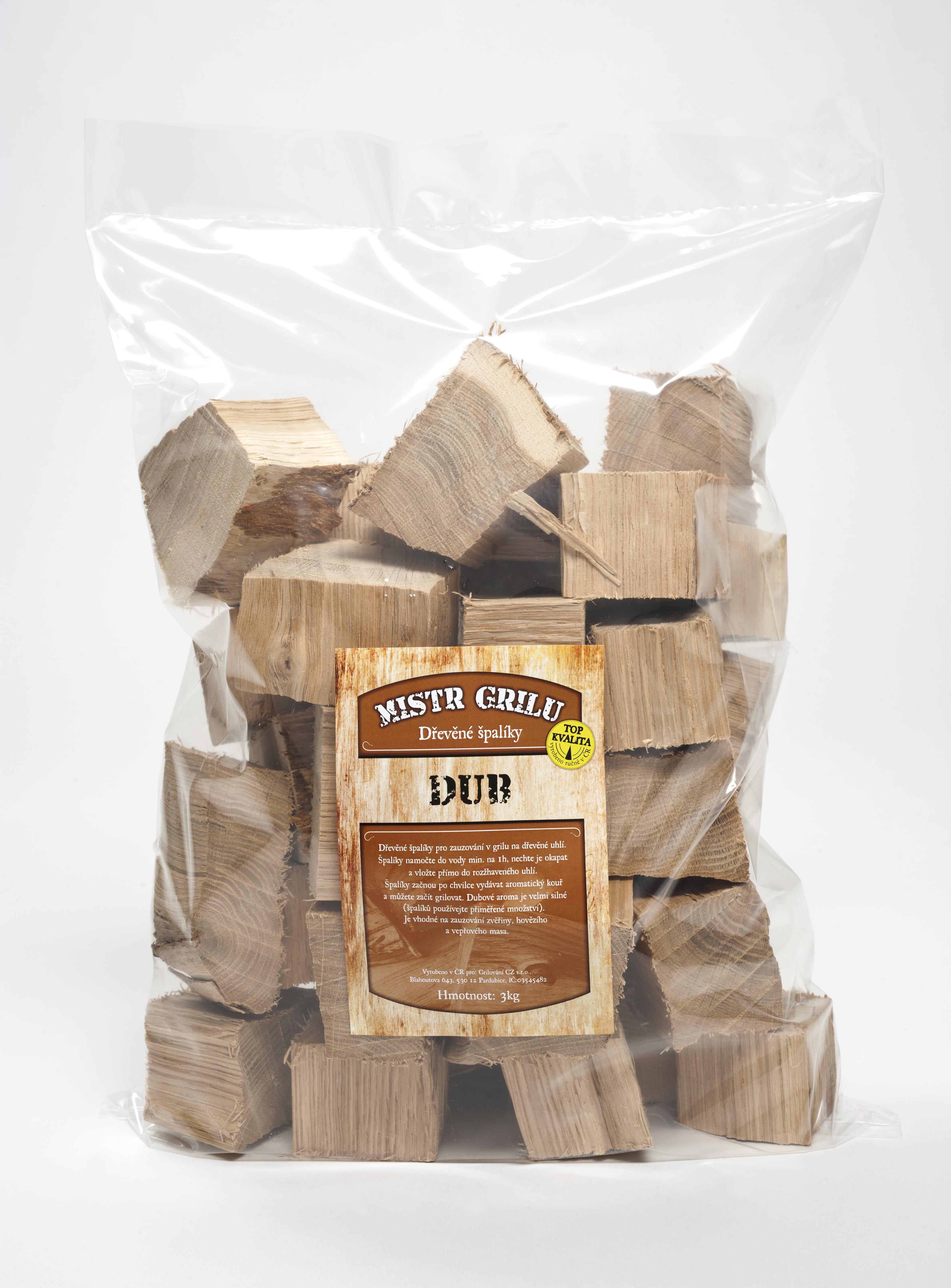 Dřevěné špalíky k uzení 3kg - DUB