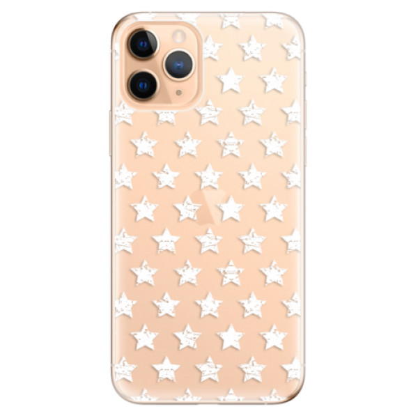 Odolné silikonové pouzdro iSaprio - Stars Pattern - white - iPhone 11 Pro