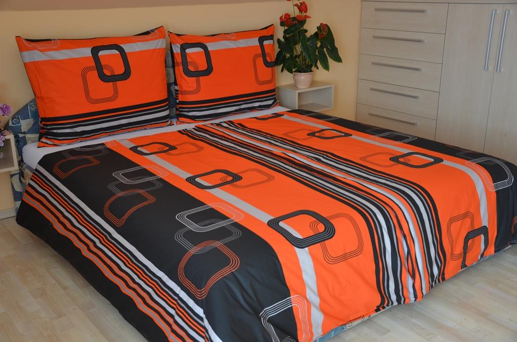 Přehoz přes postel dvoulůžkový Čtverce červenočerné, Výběr rozměru: