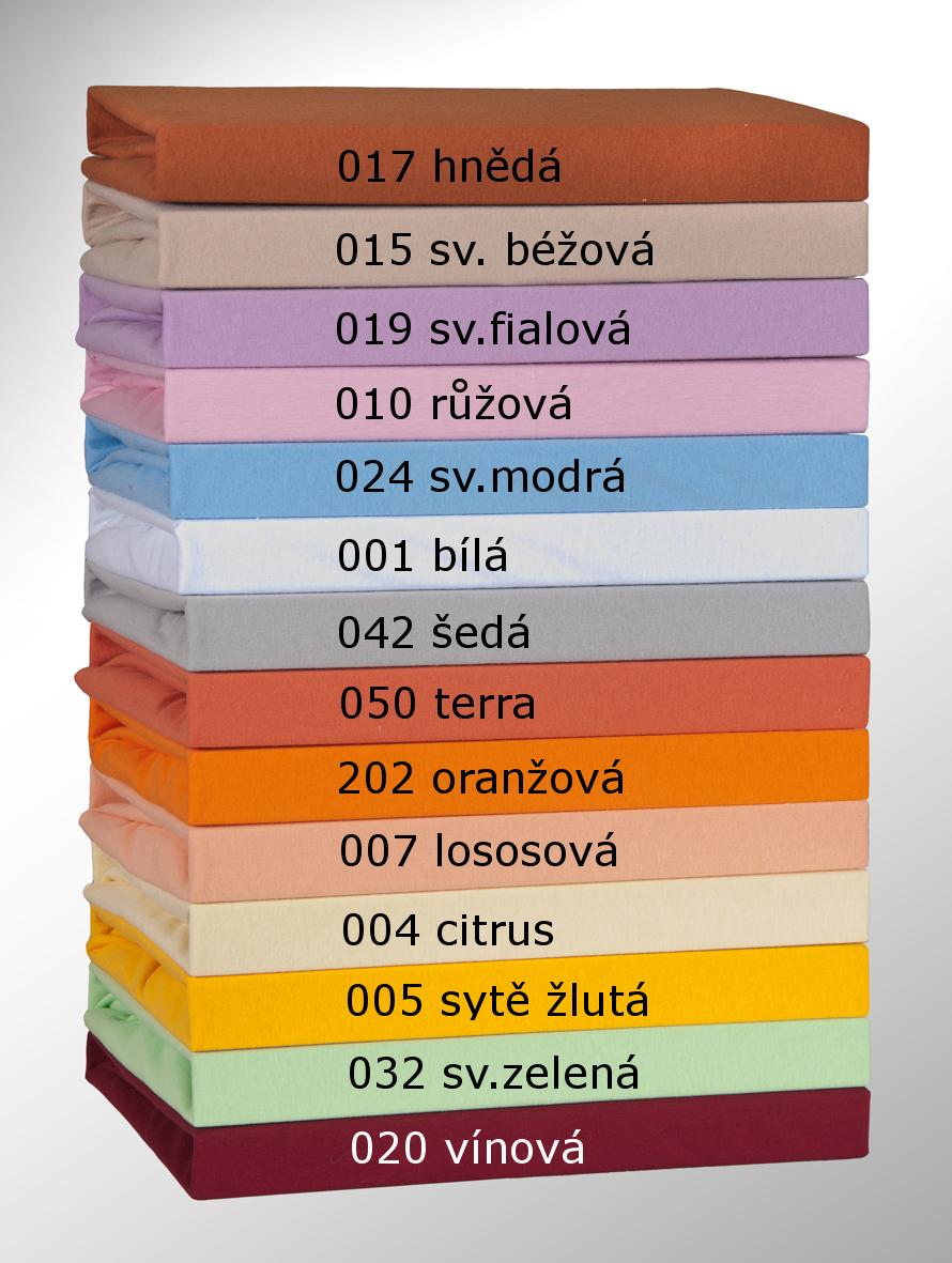 Jersey prostěradlo 70x140cm dětské, Barva - 019 sv.fialová