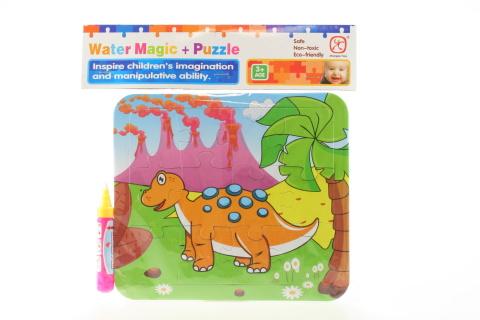 Vodní malování - Dino oranžový