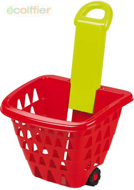 ECOIFFIER Baby košík nákupní na kolečkách vysunovací rukojeť plast