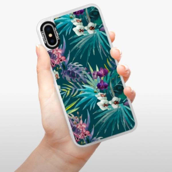 Neonové pouzdro Blue iSaprio - Tropical Blue 01 - iPhone XS