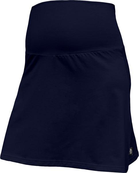 Letní těhotenská sukně Jolana - Áčkový střih, tm.