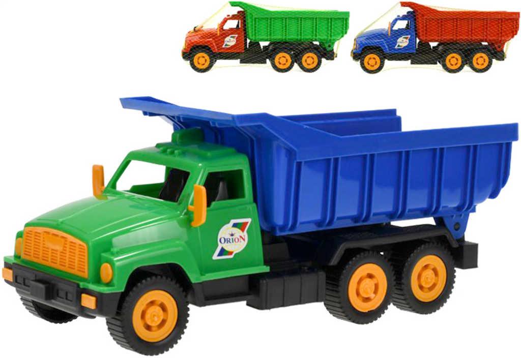 Auto nákladní barevná sklápěčka 35,5cm (tatrovka) různé barvy plast