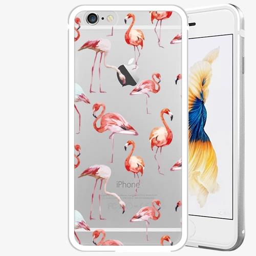 Plastový kryt iSaprio - Flami Pattern 01 - iPhone 6 Plus/6S Plus - Silver