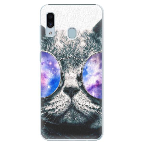 Plastové pouzdro iSaprio - Galaxy Cat - Samsung Galaxy A20