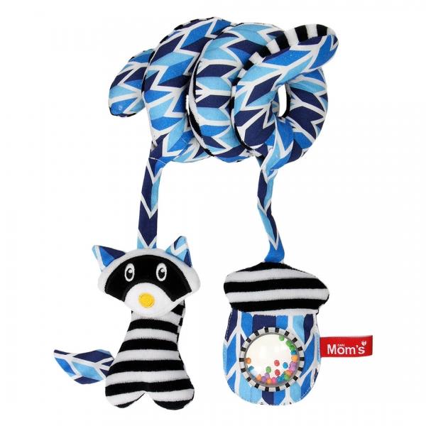 hencz-toys-edukacni-hracka-hencz-s-chrastitkem-a-zrcatkem-shophop-spiralka-modra