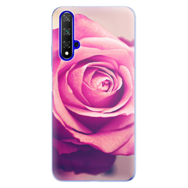Odolné silikonové pouzdro iSaprio - Pink Rose - Huawei Honor 20