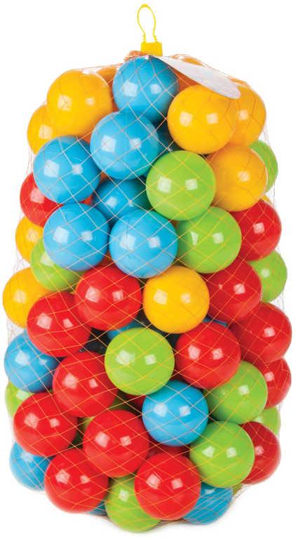 Baby lehké míčky barevné plastové 9cm set 100ks do hracího koutku do bazénku