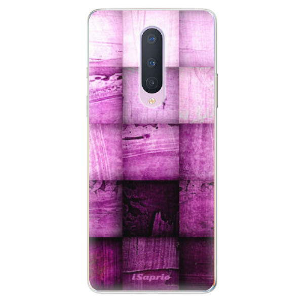 Odolné silikonové pouzdro iSaprio - Purple Squares - OnePlus 8