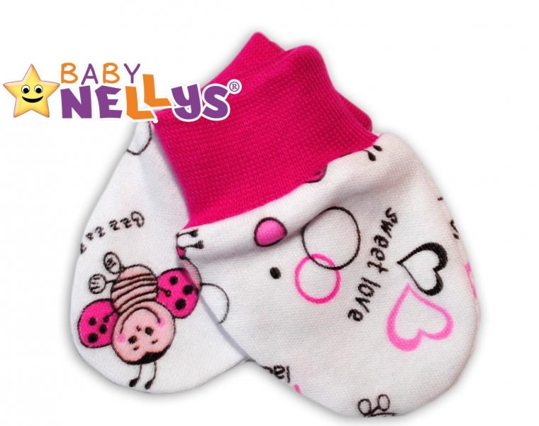 Kojenecké rukavičky Baby Nellys ® - Beruška - 56 (1-2m) /62 (2-3m)