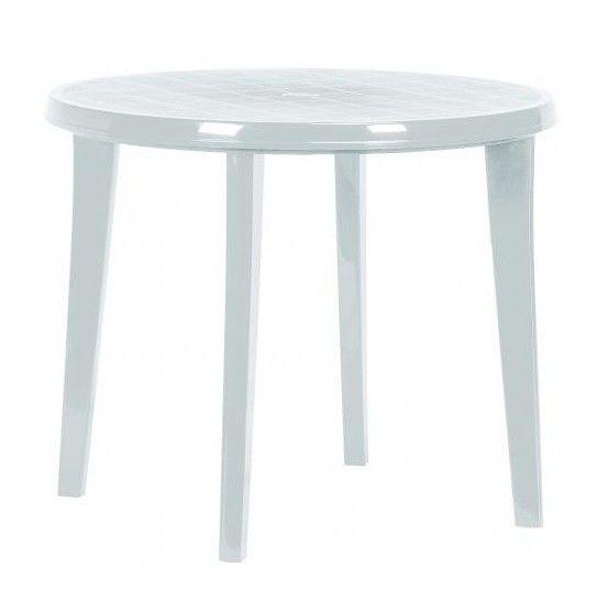 Zahradní plastový stůl LISA 90 cm bílá