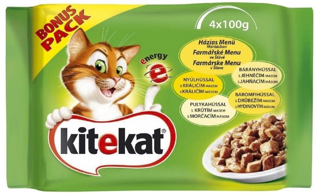 Drůbeží menu v želé kapsička pro kočky 4x100 g