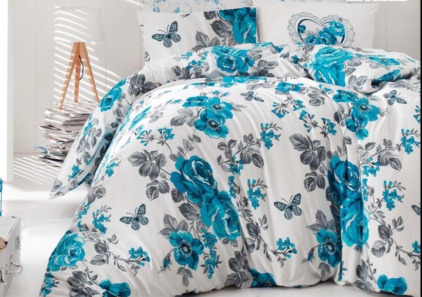 Bavlněný povlak na polštář Neva modrá, Výběr rozměru: 40x40