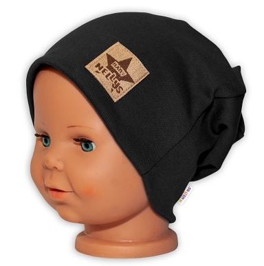 baby-nellys-hand-made-detska-funkcni-cepice-s-dvojitym-lemem-cerna-48-50-cepicky-obvod