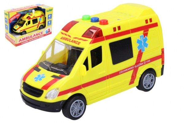 Auto ambulance záchranáři - 18,5x12,5x9 cm