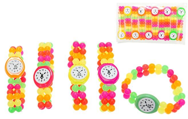 Hodinky na ruku Na gumičce korálkové pestrobarevné 5 barev