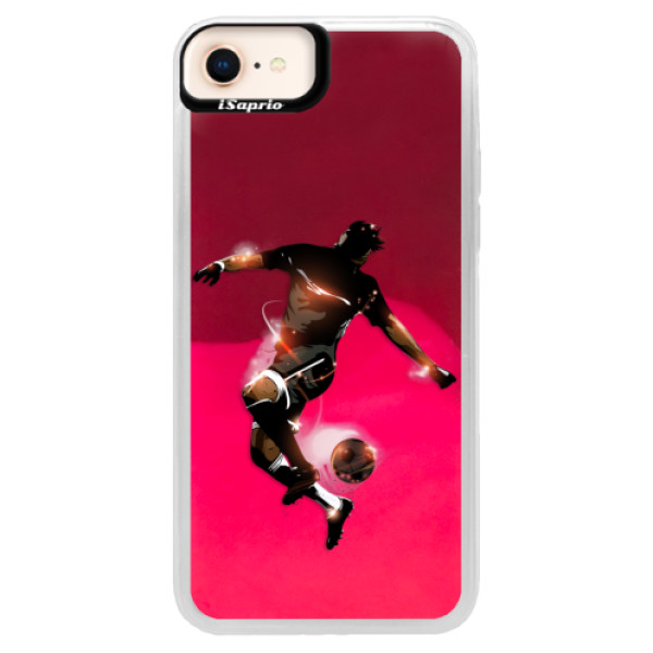 Neonové pouzdro Pink iSaprio - Fotball 01 - iPhone 8