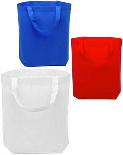Taška textilní jednobarevná 36x42cm krátké ucho 3 barvy