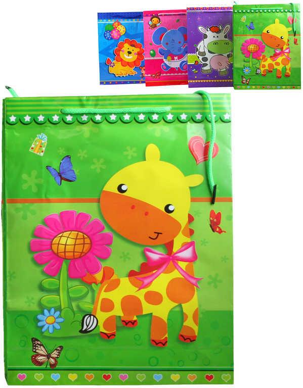 Párty taška papírová veselá 18x24cm se zvířátkem malá Afrika 4 druhy