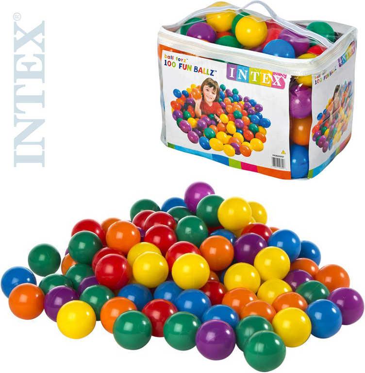 INTEX Míčky dětské hrací 8cm náhradní set 100ks v igelitové tašce na zip 49600