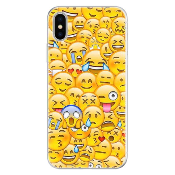 Silikonové pouzdro iSaprio - Emoji - iPhone X