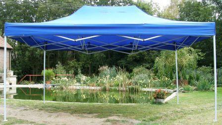 Zahradní  párty přístřešek CLASSIC nůžkový - 3 x 4,5 m modrý