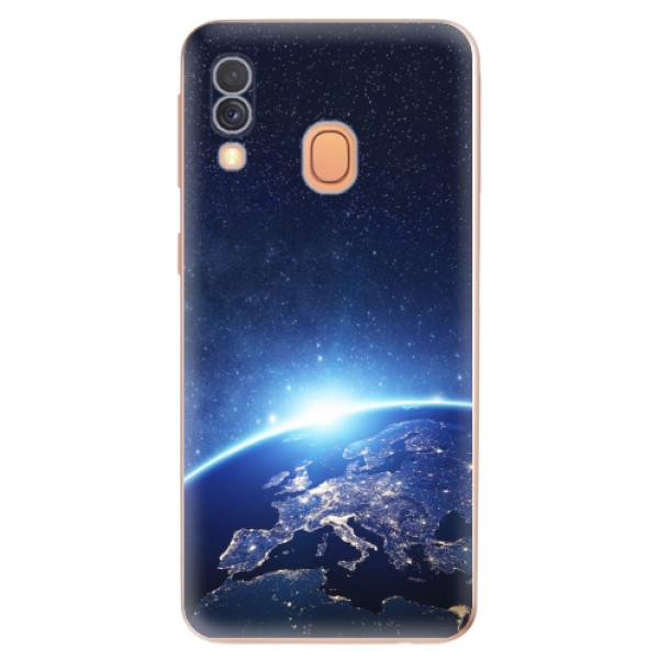 Odolné silikonové pouzdro iSaprio - Earth at Night - Samsung Galaxy A40