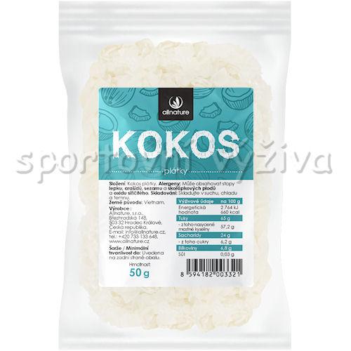 Allnature Kokosové plátky - chipsy 50g