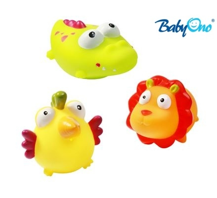 Baby Ono Veselé hračky do vody DŽUNGLE - 3m+