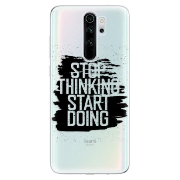 Odolné silikonové pouzdro iSaprio - Start Doing - black - Xiaomi Redmi Note 8 Pro