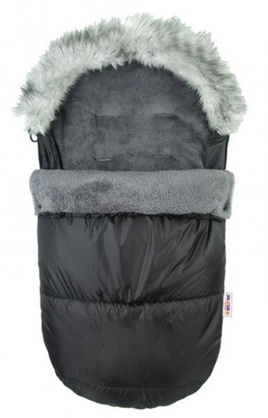 Fusák Delux Baby Nellys ® s kožešinkou 105x50cm - černý