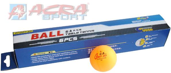 ACRA Míčky na stolní tenis (ping pong) 40 mm oranžové