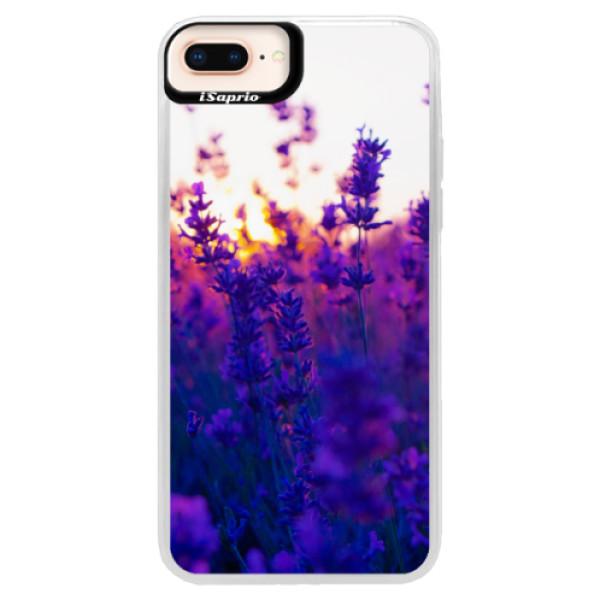 Neonové pouzdro Pink iSaprio - Lavender Field - iPhone 8 Plus
