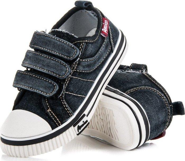 Chlapecké tenisky 336-A16025B - American club - Jeans/32
