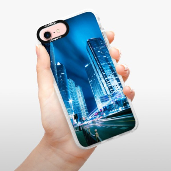 Silikonové pouzdro Bumper iSaprio - Night City Blue - iPhone 7