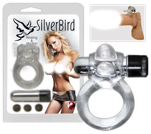 Vibrační kroužek Silver Bird
