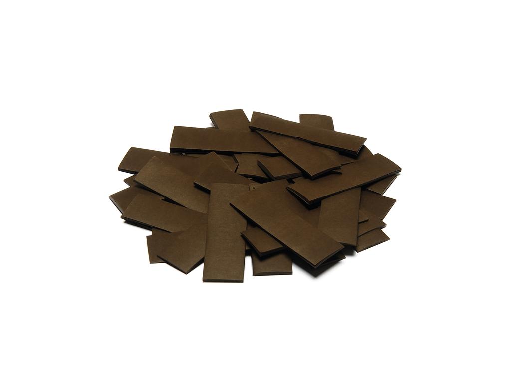Tcm Fx pomalu padající obdélníkové konfety 55x18mm, hnědé, 1kg