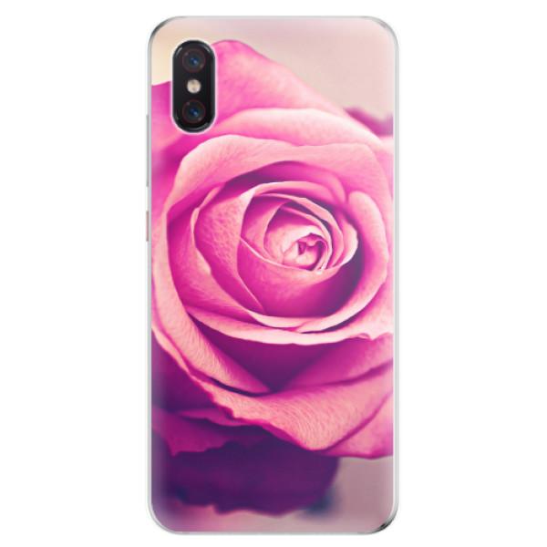 Odolné silikonové pouzdro iSaprio - Pink Rose - Xiaomi Mi 8 Pro