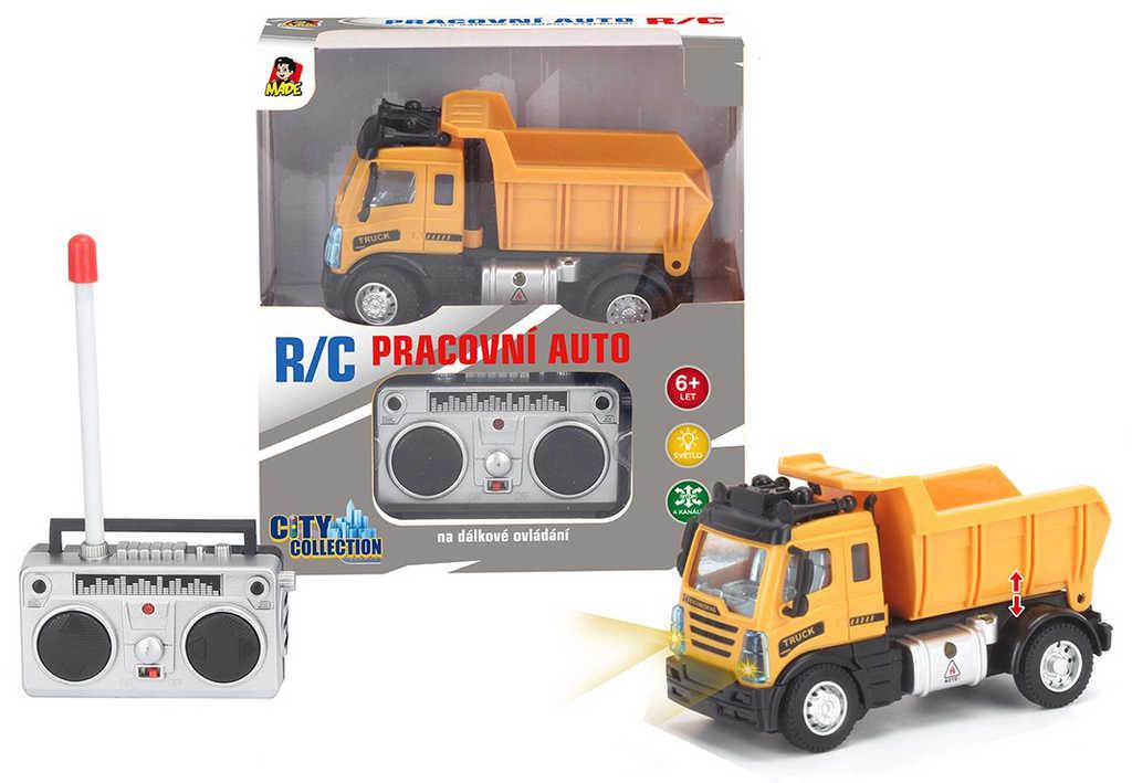 RC Auto nákladní na vysílačku 27MHz na baterie 1:64 Světlo