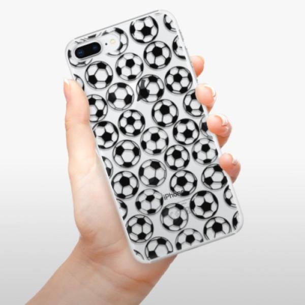 Plastové pouzdro iSaprio - Football pattern - black - iPhone 8 Plus