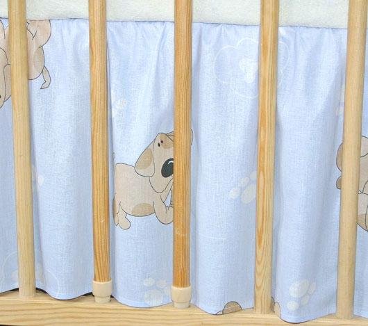 VÝPRODEJ Krásný volánek pod matraci - Pejsek modrý - 120x60